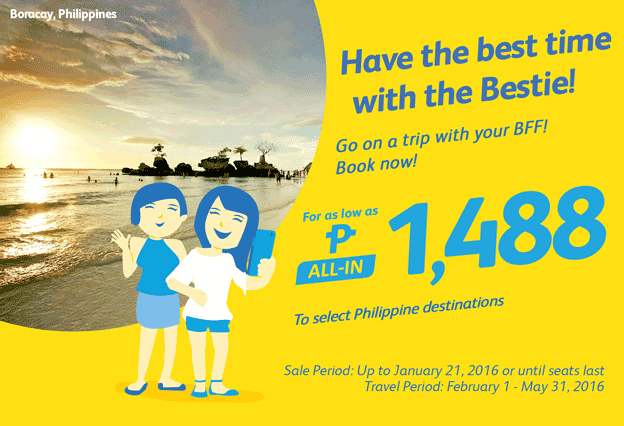 Cebu Pacific 1488 Pesos Domestic Promo Fare 2016