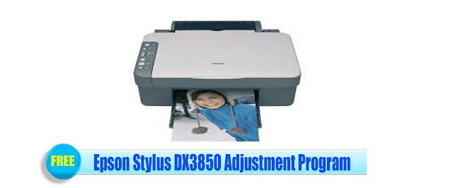 Epson Stylus DX3850 Adjustment Program