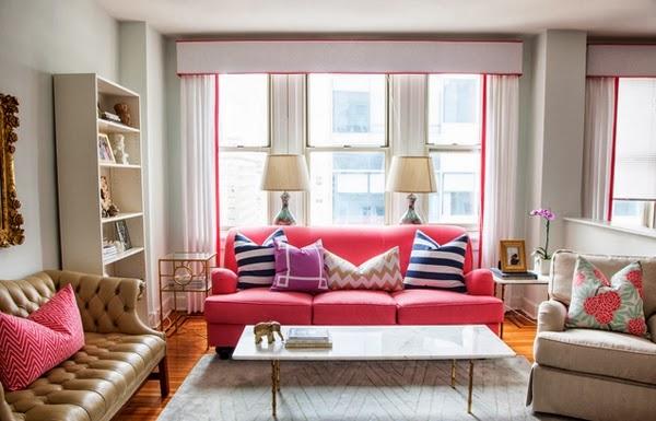 canap rose pour d corer votre salon d coration salon d cor de salon. Black Bedroom Furniture Sets. Home Design Ideas