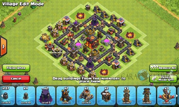 pertahanan terbaik untuk base war th 6 di clash of clans 21