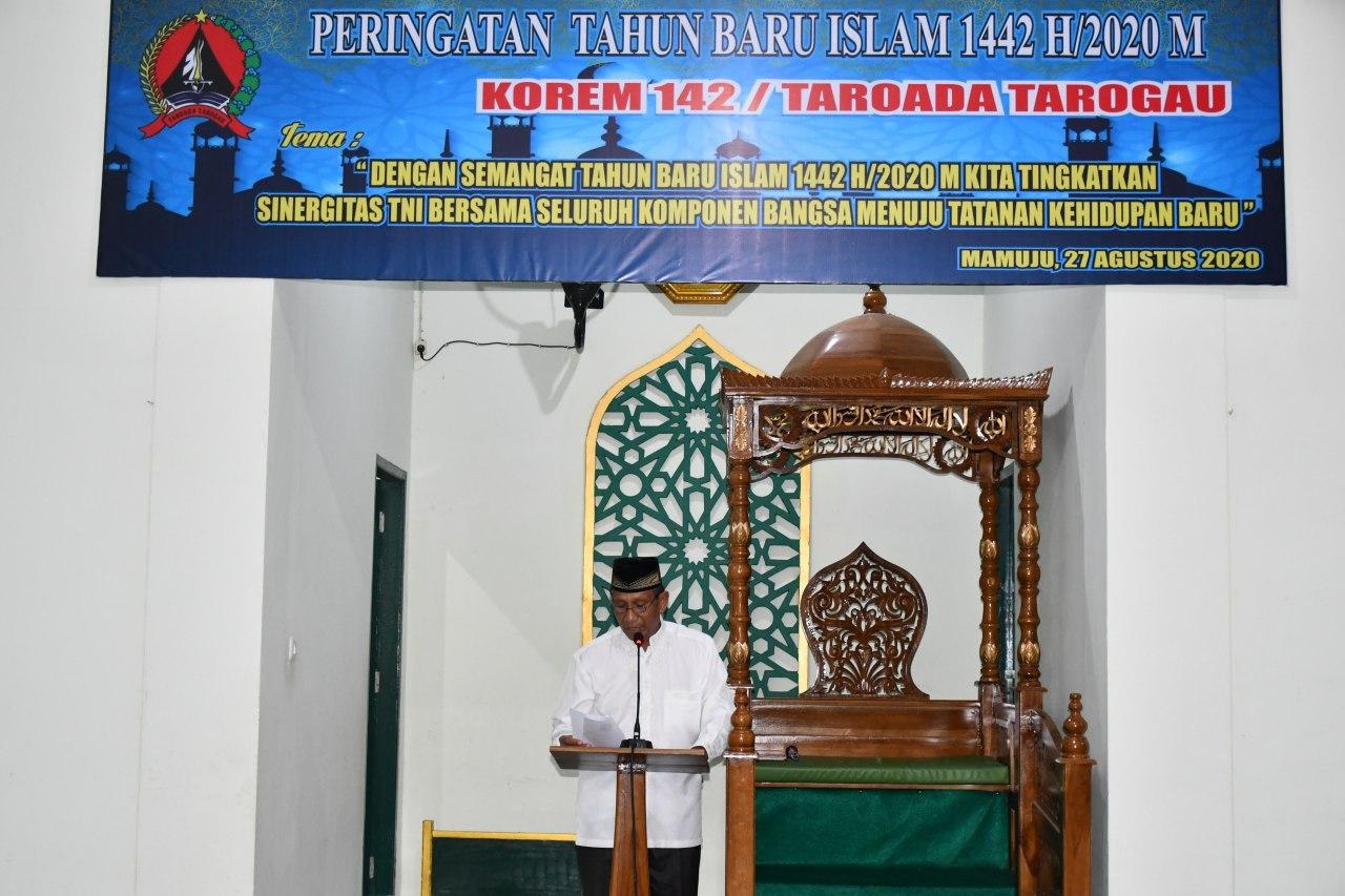 Peringatan Tahun Baru Islam 1442 H Dilaksanakan di Korem 142/Tatag