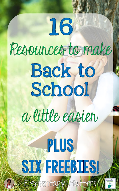 This post has 16 different resources that will make your life a little easier at the beginning of the school year. Plus, there are 6 freebies!