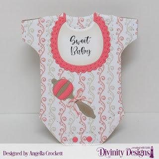 Divinity Designs Stamp Set: Sweet Baby, Custom Dies: Baby Blessings, Paper Collection:Baby Girl