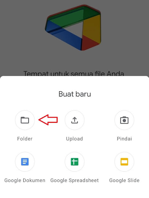 Langkah-Langkah Membuat Folder di Google Drive Lewat Hp