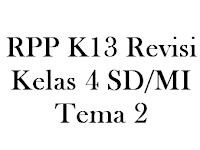 Download RPP K13 Revisi Kelas 4 SD/MI Tema 2