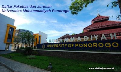 Daftar Fakultas dan Jurusan UMPO Universitas Muhammadiyah Ponorogo