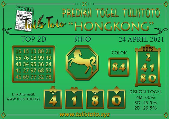Prediksi Togel HONGKONG TULISTOTO 24 APRIL 2021