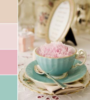 vintage teacup, decorating with vintage teacups