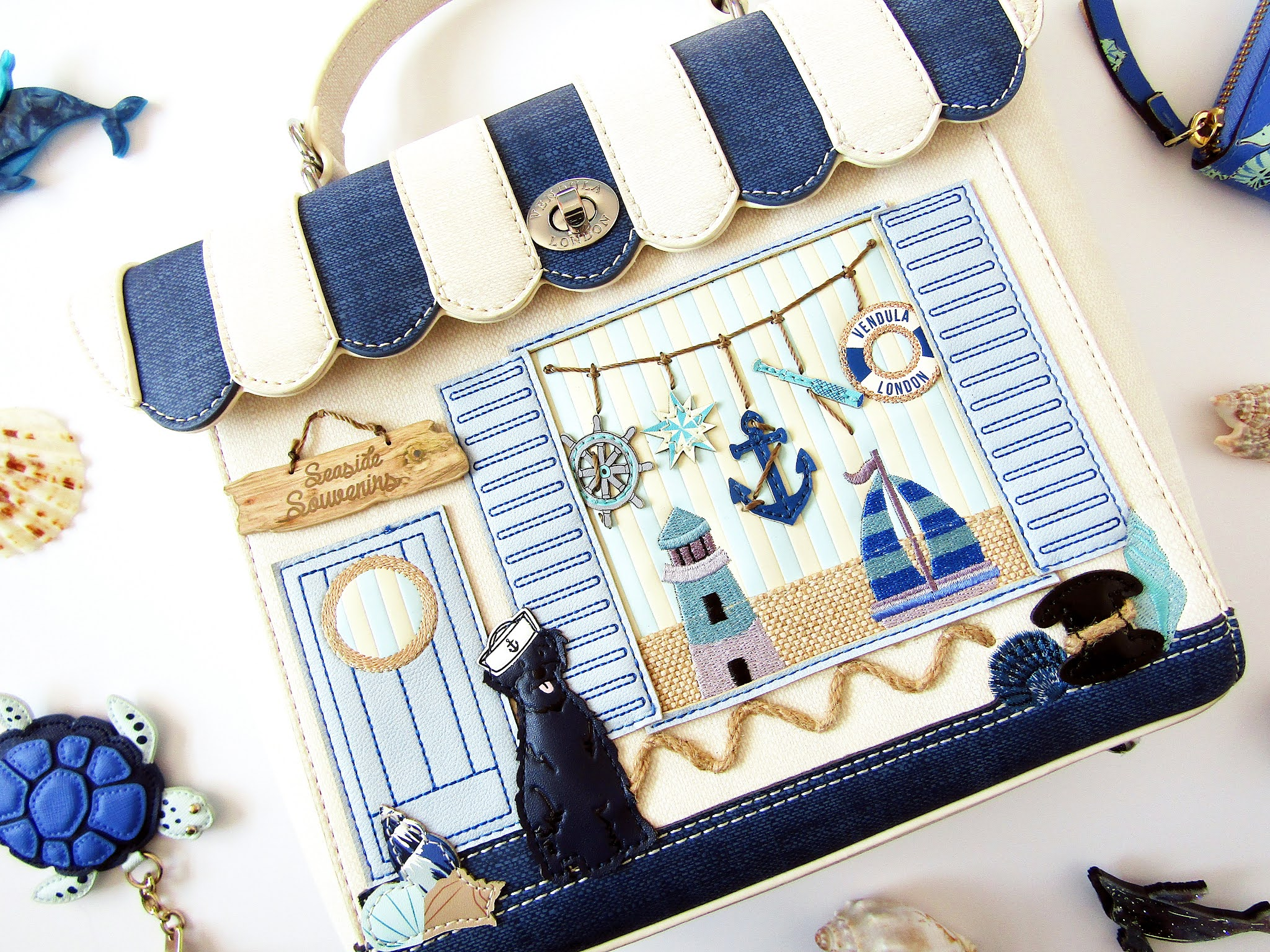 A photo of the Vendula London Seaside Souvenirs backpack.