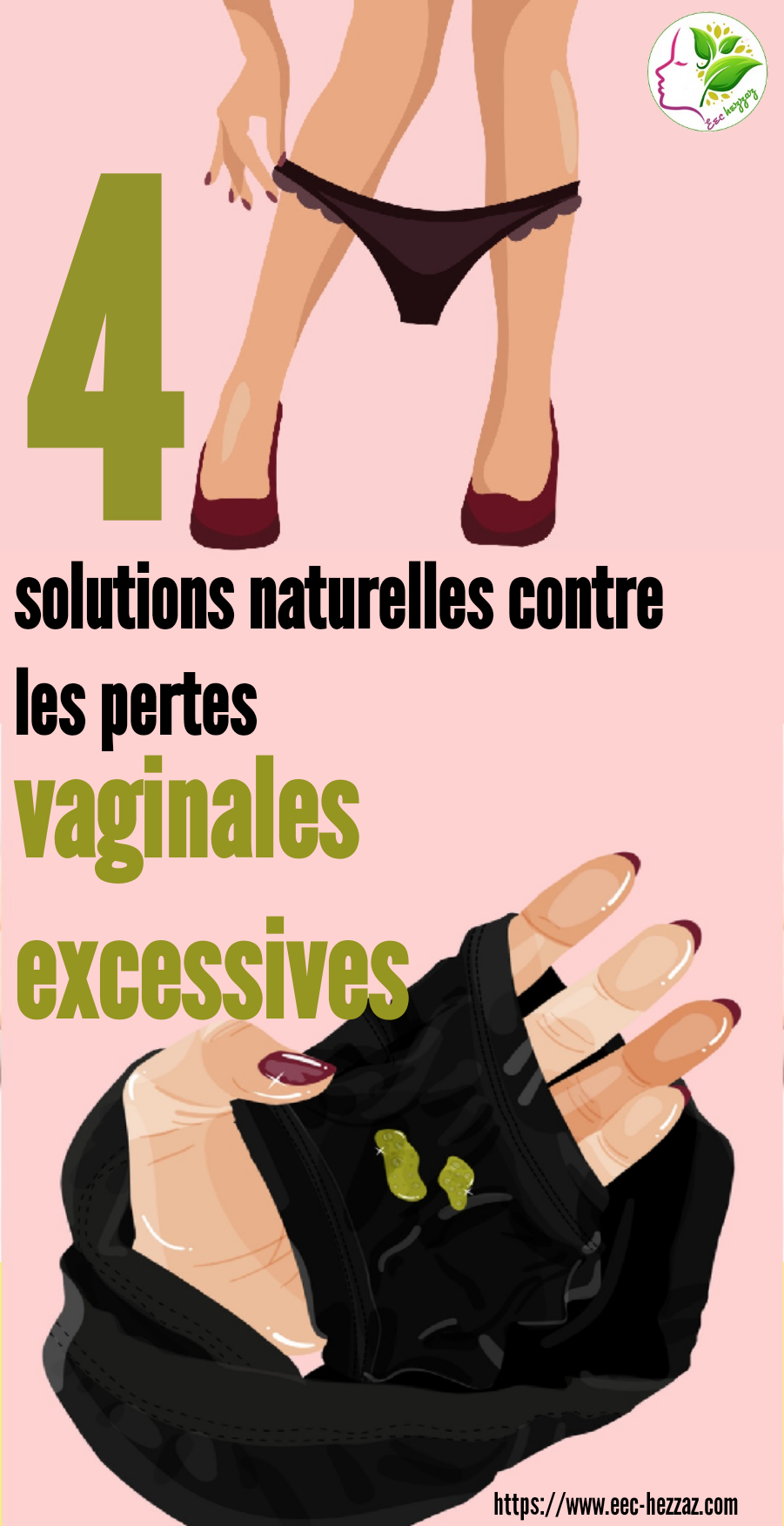 4 solutions naturelles contre les pertes vaginales excessives