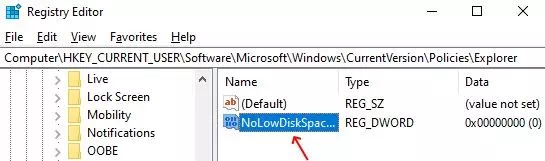 Cara Menonaktifkan Peringatan Low Disk Space Windows 10-3