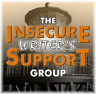Logo for the Insecure Writer's Support Group with a lighthouse in the background.