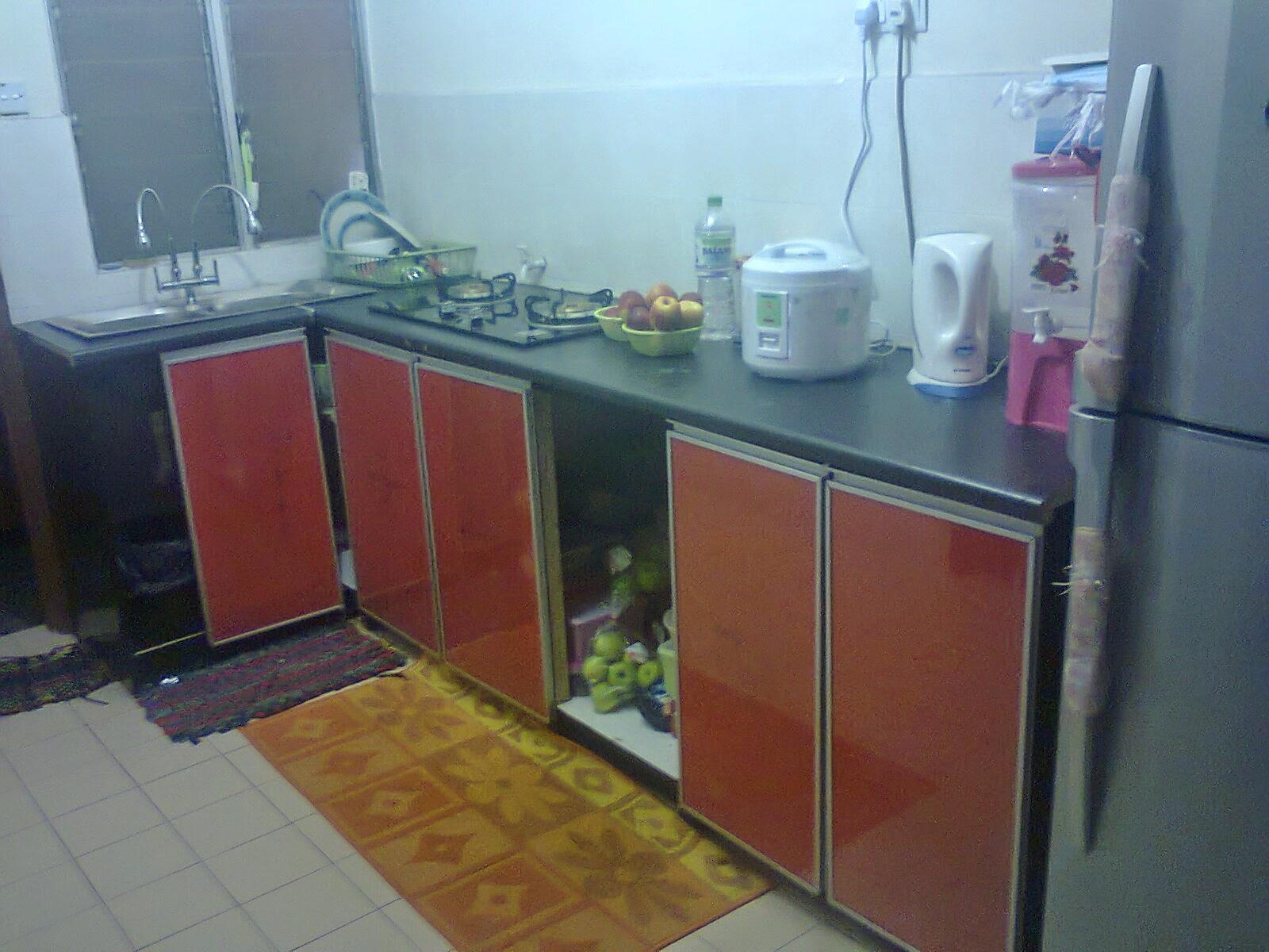 Hasil Kitchen Cabinet Yang Masih Belum Siap