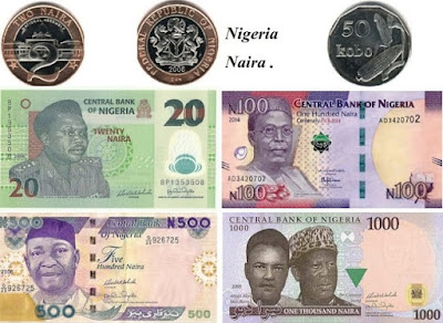 Countries and Currency Nigeria Naira