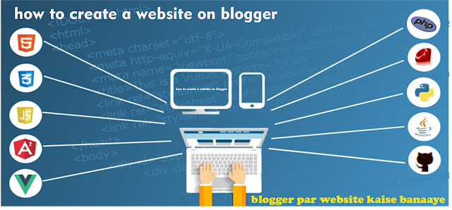 how to create a website on blogger