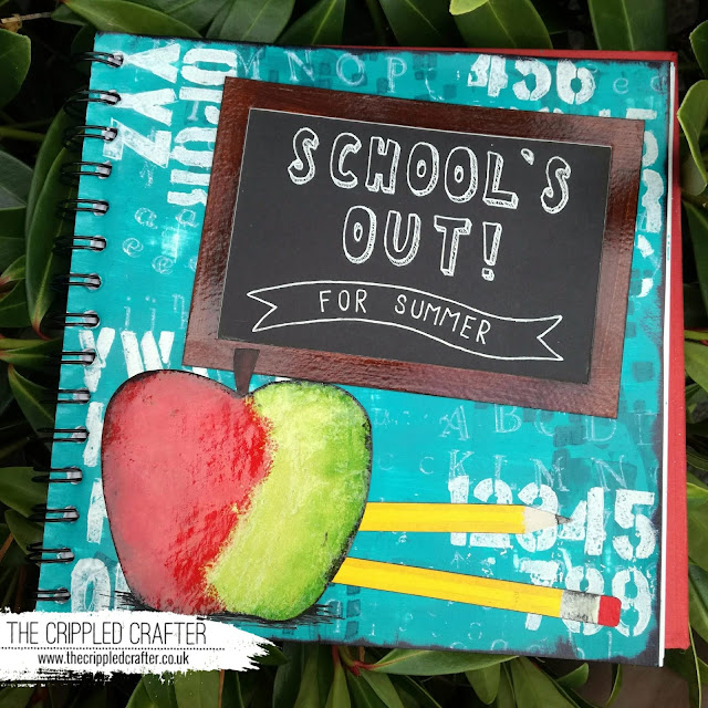 School Holidays Art Journal Page by Sam Lewis AKA The Crippled Crafter | DecoArt Media Fluid Acrylics