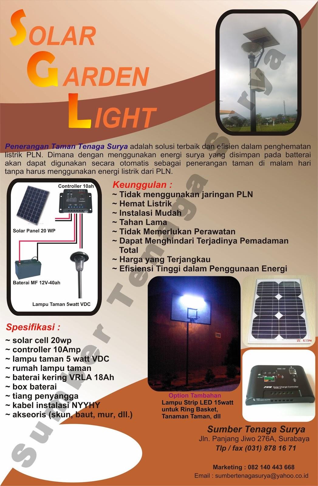 Sumber Tenaga Surya Surabaya Spesialis Pju Tenaga Surya Solar Home System Dan Baterai Vrla Lampu Taman Tenaga Surya