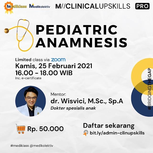 Webinar Pediatric Anamnesis