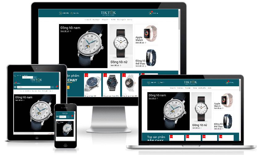 Giao diện blogspot bán hàng đồng hồ