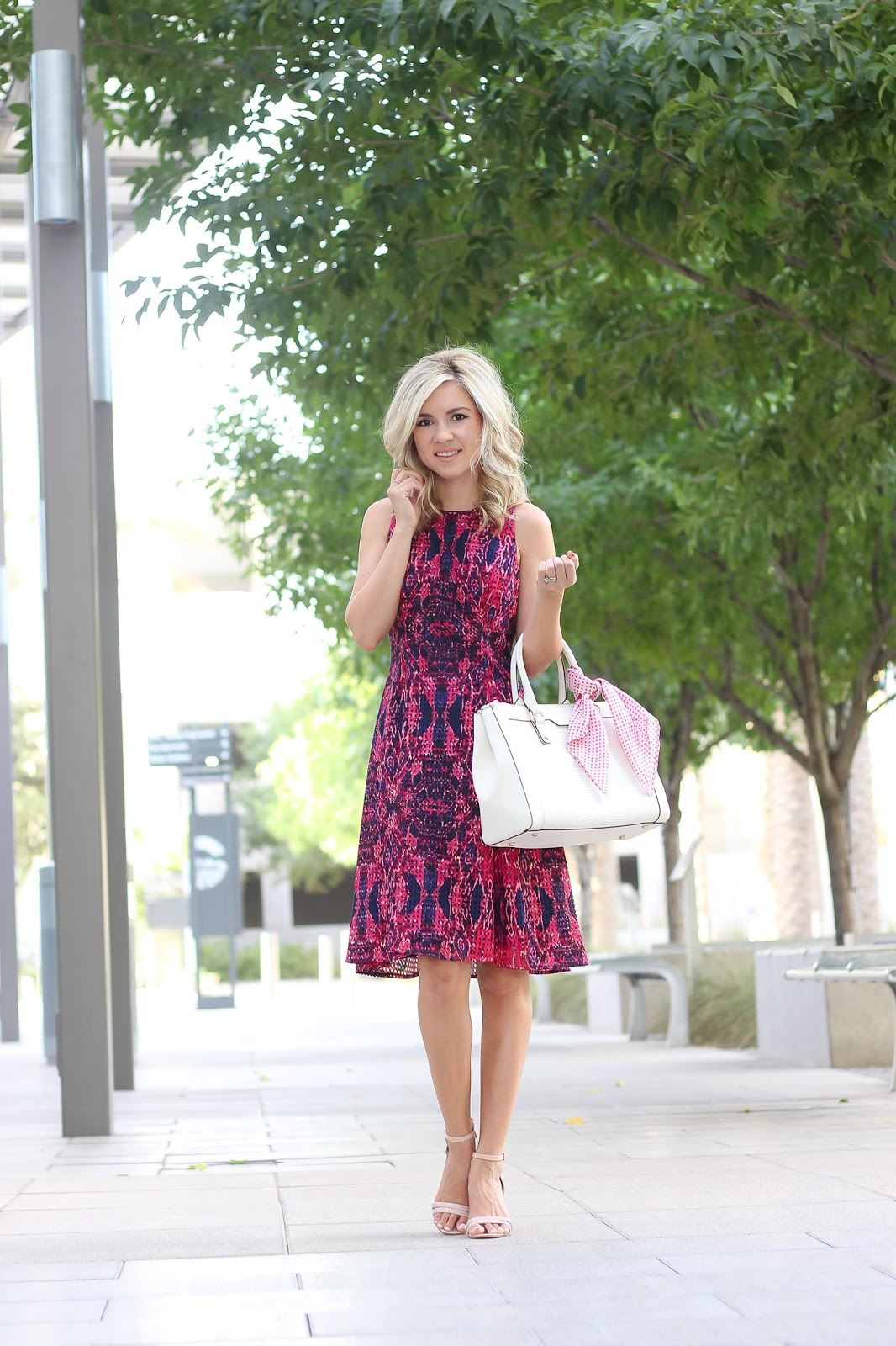fit and flare dress, classic dress, multi color dress, Maggy London
