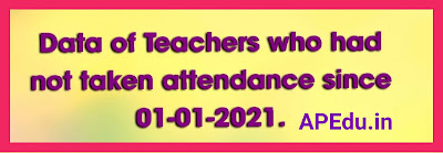 CSE generated teachers list who has not marked attendance since 01-01-2021.