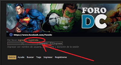 Registrarse en ForoDC