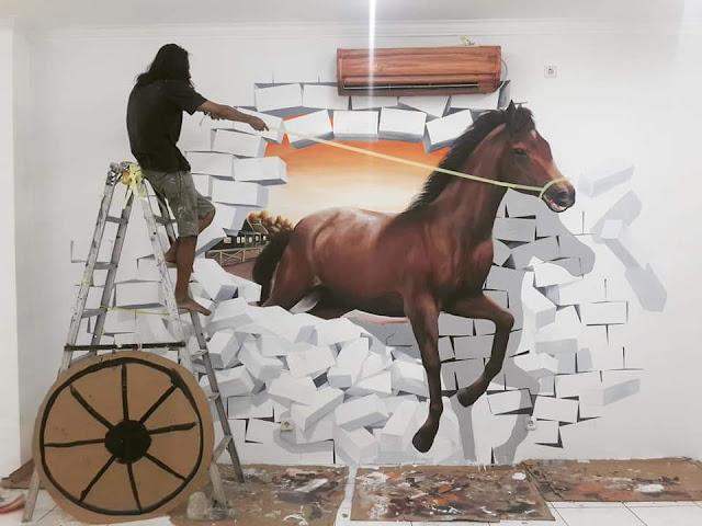 gambar lukisan dinding