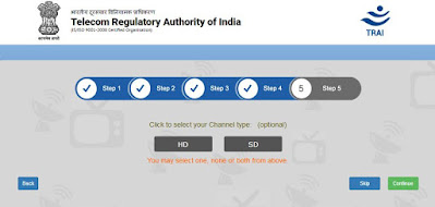 TRAI Channel selector app step 5