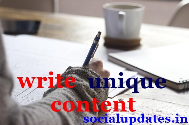 how to write unique articles - social updates