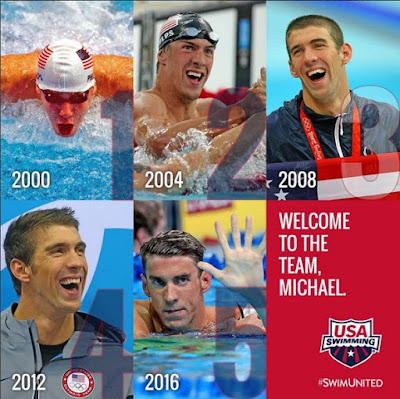 Michael Phelps to Number five Olympic Competetions