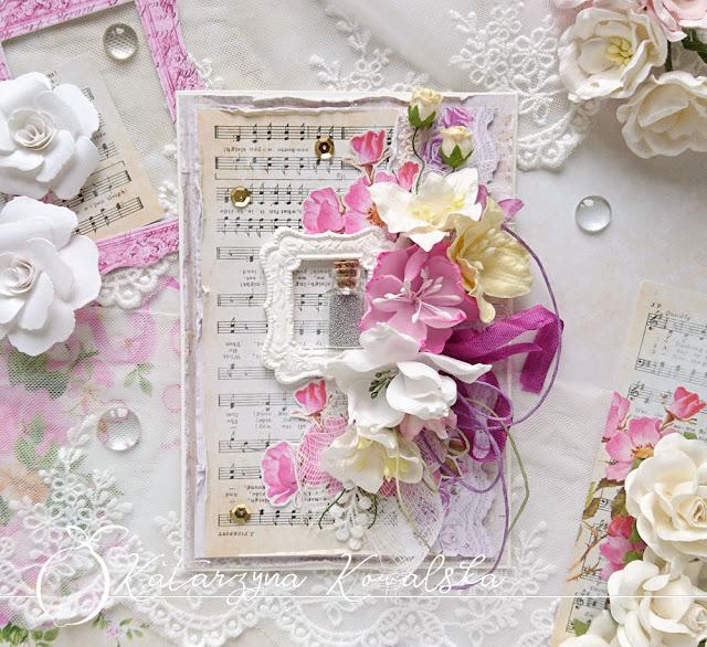 Jesienne kartki z lawendą i różami / Autumn cards with lavender and roses
