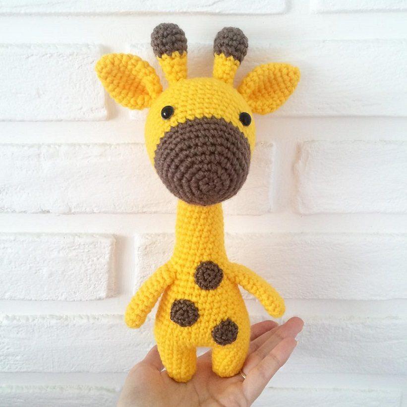 Жираф крючком амигуруми схема