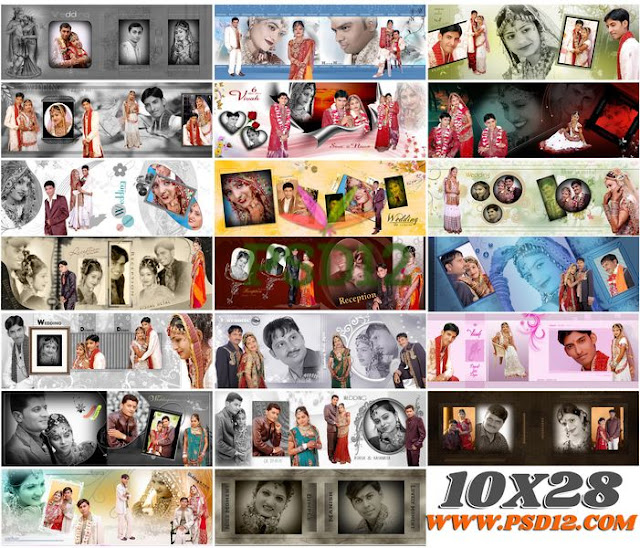 All Size Photo Album Big Big PSD Collection 10x28