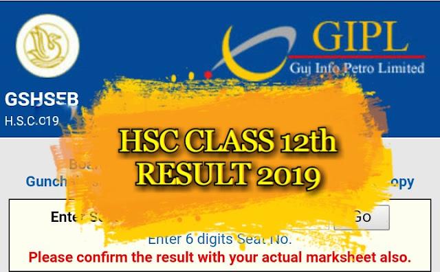 Direct Link For STD 12 HSC Result 2019