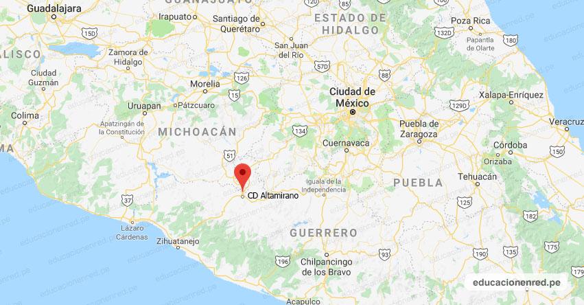 Temblor en México de Magnitud 4.2 (Hoy Miércoles 11 Septiembre 2019) Sismo - Epicentro - CD. Altamirano - Guerrero - GRO. - SSN - www.ssn.unam.mx