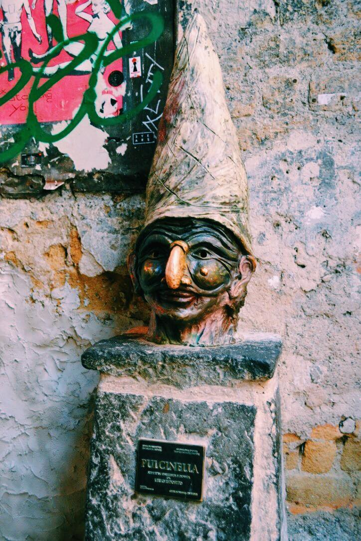 Pulcinella in Naples