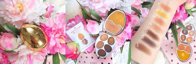 I Heart Revolution, Revolution Surprise Egg Gold Eyeshadow and Highlighter Palette