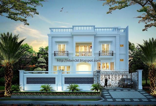 Render Rumah Klasik