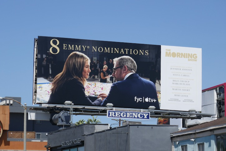 Morning Show 2020 Emmy nominee billboard