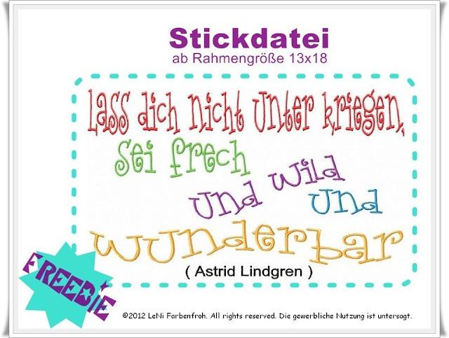LeNi Farbenfroh Stickdateien free