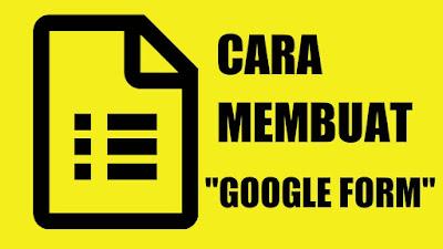Cara mudah membuat google formulir di hp dan laptop