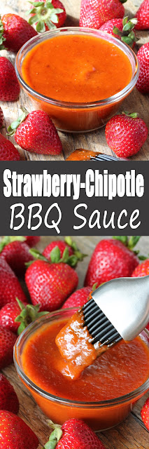 This sweet and smokey barbecue sauce is made with fresh strawberries and chipotle peppers for a spicy kick.
