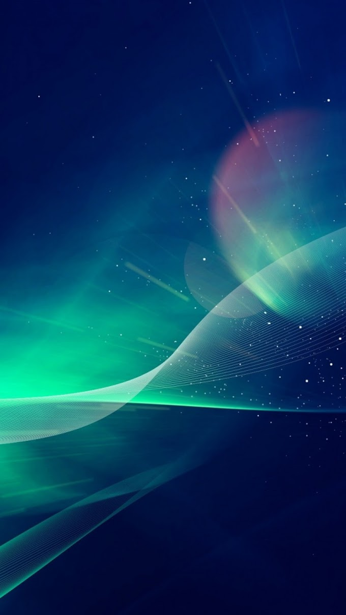 Plano de Fundo Abstrato Aurora Boreal para Celular