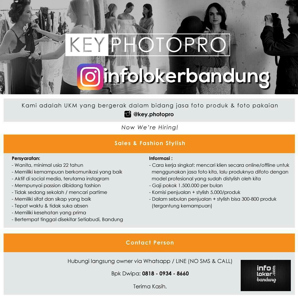 Lowongan Kerja Key Photopro Bandung April 2017