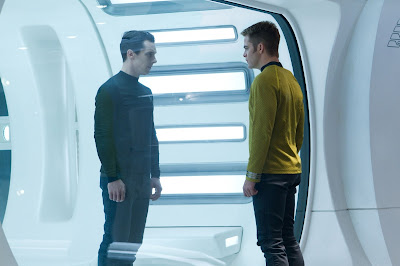 Face off between John Harrison and Jim Kirk in Star Trek Into Darkness, in cinemas May 17