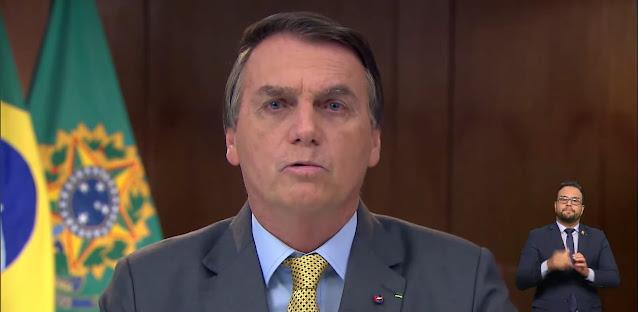 Crédito: Reprodução/YouTube Pronunciamento de Bolsonaro causa revolta e 'panelaços' são feitos pelo Brasil