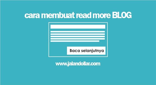 Membuat Read More Pada Blogger Gampang!