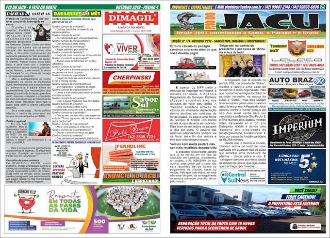 Leia a edição 171 do Jacu - Outubro 2019