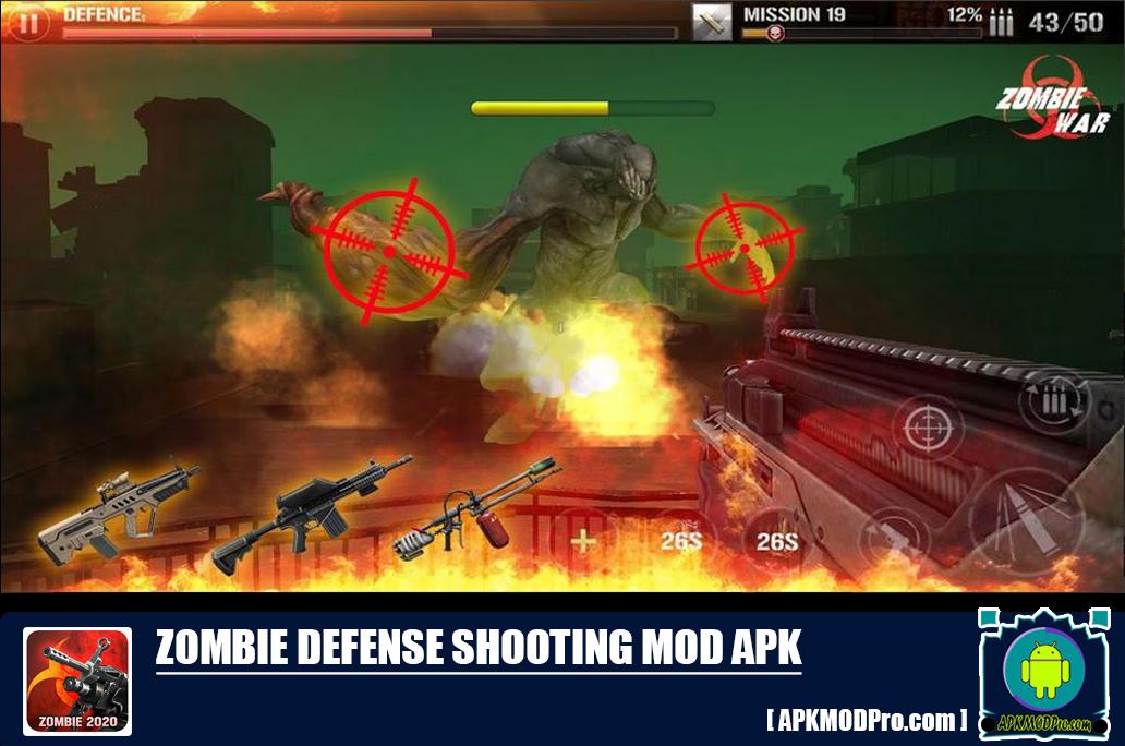 Download Zombie Defense Shooting MOD APK