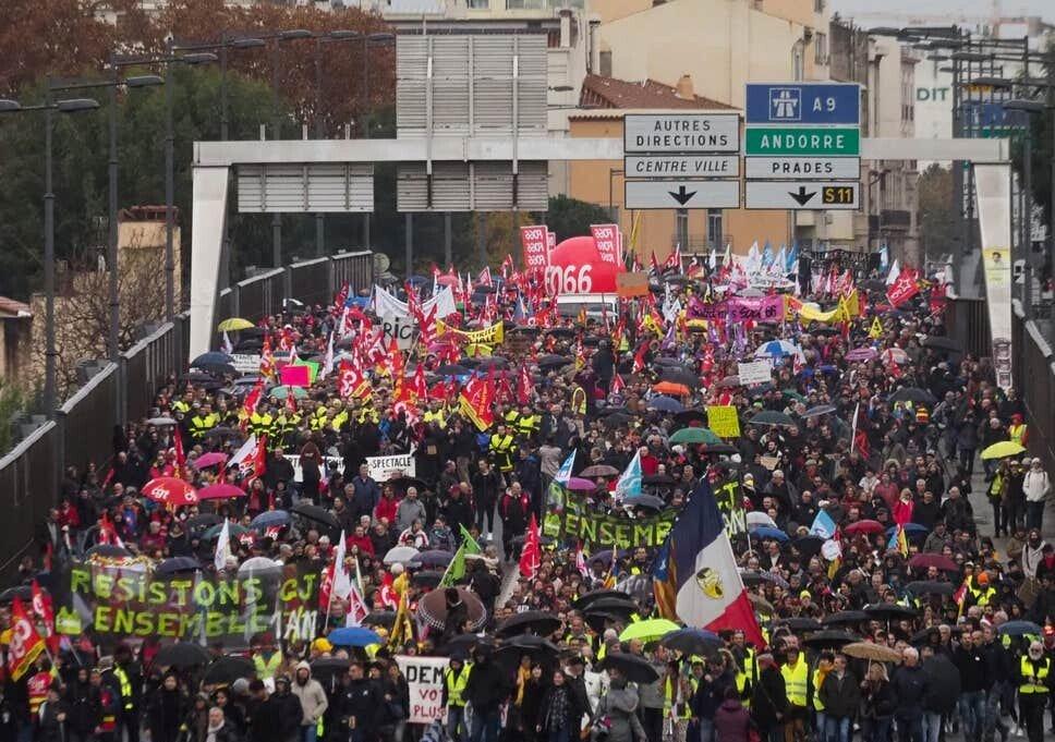 불란서 연금 개혁 반대 시위